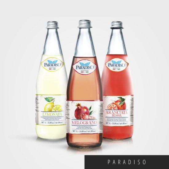 immagine di copertina per packaging bottiglie delle bibite gassate Paradiso