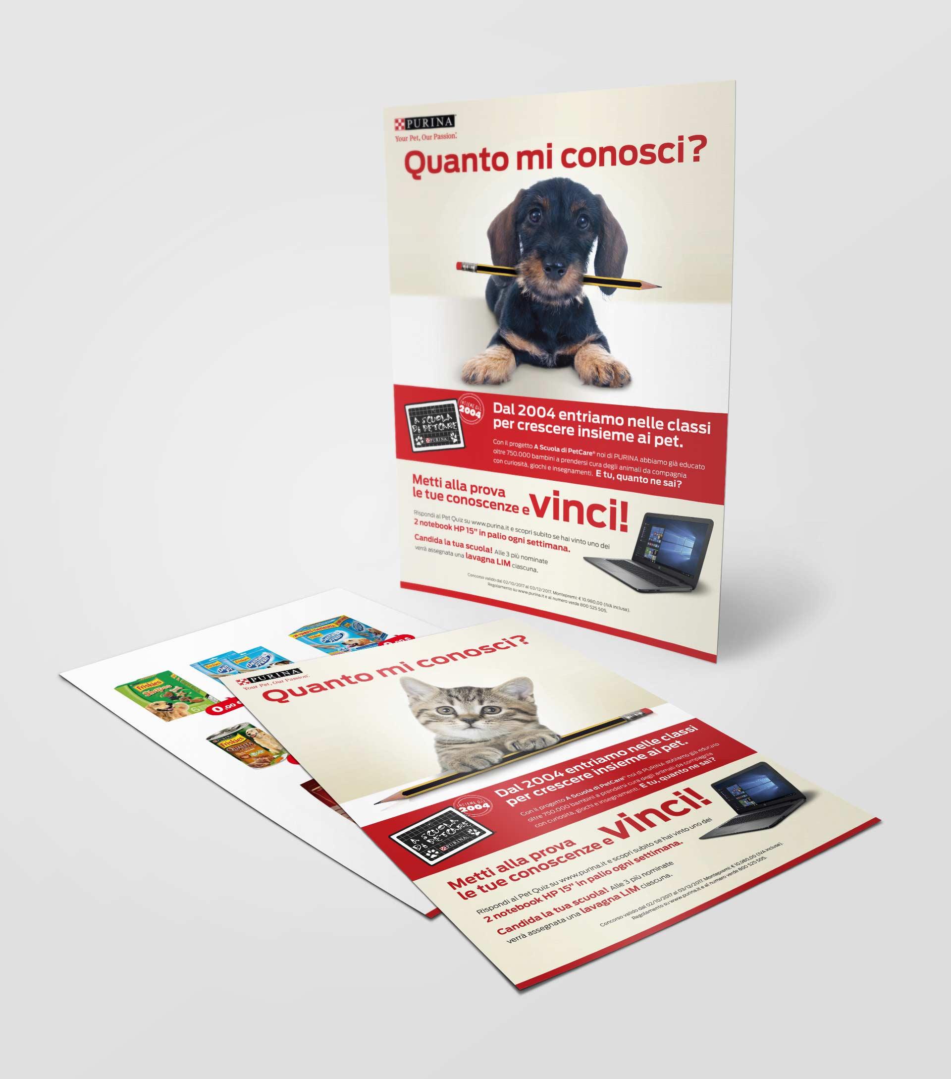 Purina - materiale promozionale - flyer