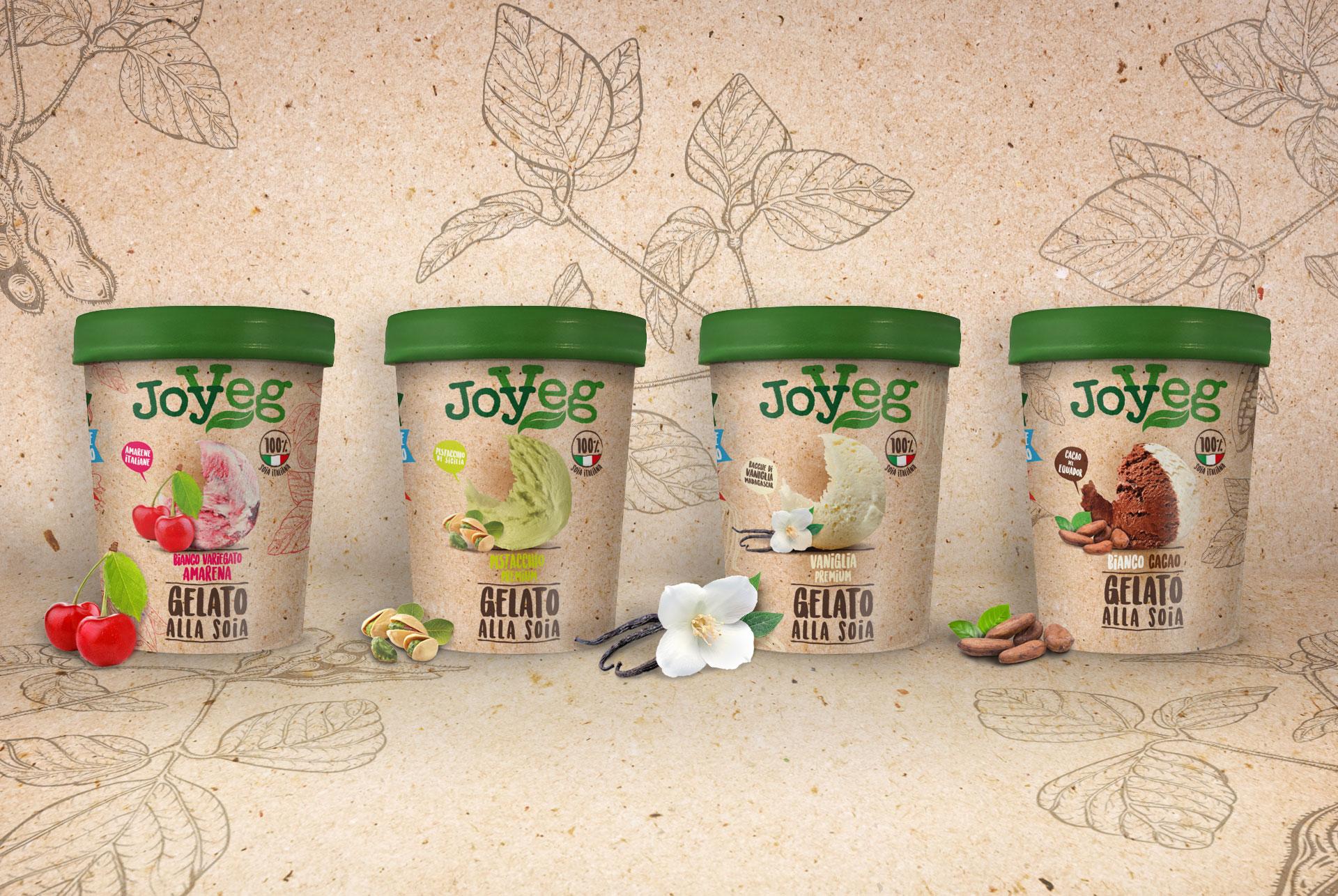 immagine per il packaging gelati Joyveg a base di soia