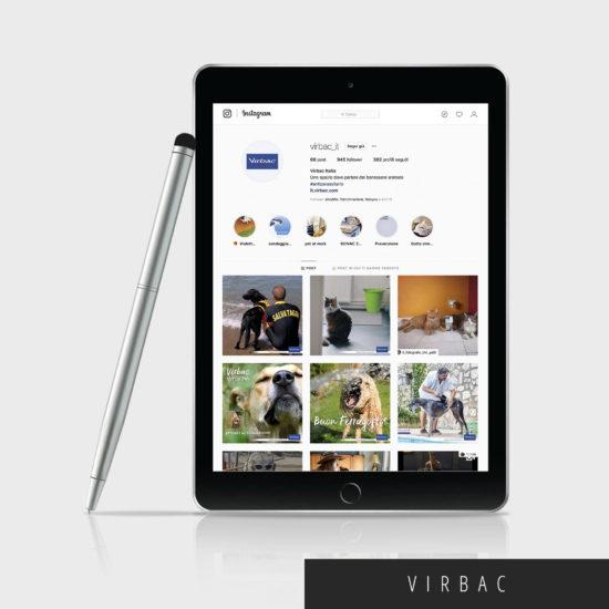 gestione profilo instagram: tablet con immagini esempio